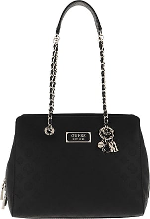 Guess Logo Love Girlfriend Satchel Bag Black