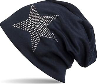 styleBREAKER Warm Beanie hat with Star Rhinestone Application, Unisex 04024023, Color:Midnight-Blue