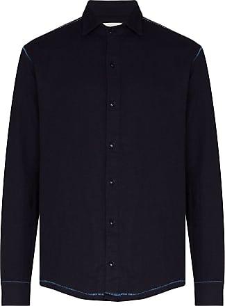 78Stitches Camisa de algodão orgânico com recortes - Azul