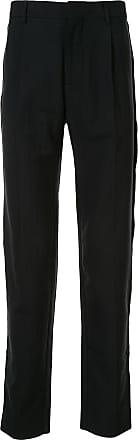 Cerruti high waist herringbone trousers - Black