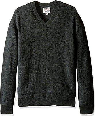 Lucky Brand Mens Ventura V-Neck Sweater in Olive, Capulet, Medium