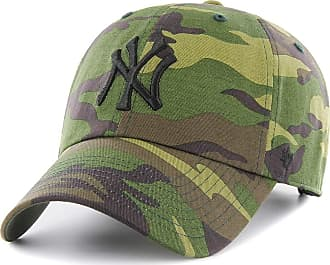 47 Brand New York Yankees Unwashed Camo Clean Up Adjustable MLB Cap, One Size