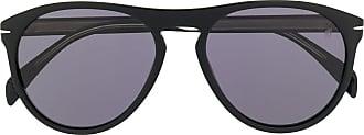 David Beckham Óculos de sol redondo polido - Preto