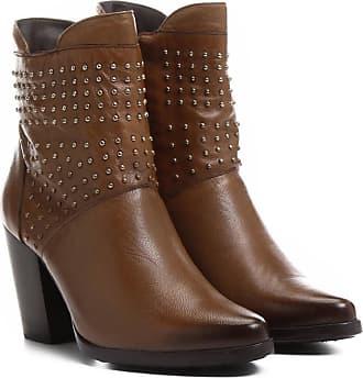 df505fec8f Shoestock Bota Couro Cano Curto Shoestock Cravinhos - Feminino