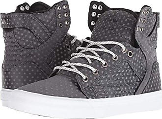 49597665749 Supra Skytop (Dark Grey Polka Dot/White) Womens Skate Shoes
