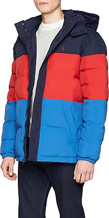 Original Penguin Original Penguin Mens Quilted Colour Block Puffer Jacket, Blue (Dark Sapphire), Large (Size: L)