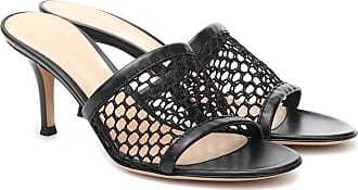 Gianvito Rossi 70 leather-trimmed sandals