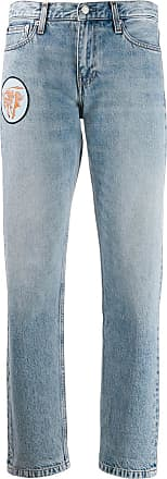 Calvin Klein multi-patches boyfriend jeans - Blue