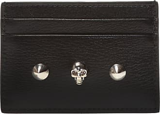 Alexander McQueen Studded Card Case Womens Black