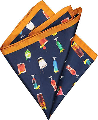 Altea Übergröße : Altea, Einstecktuch mit modischem Muster in Orange für Herren