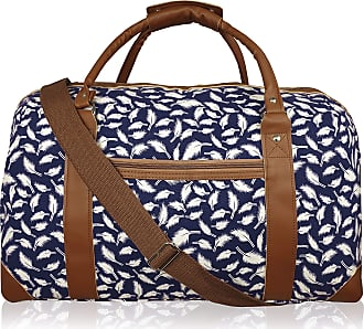 Quenchy London 15 COLOURS Canvas Travel Holdalls - Weekend Overnight Bags - Medium Size Holiday Duffle Bag - Ideal Womens Ladies Gym Holdall - Hand Luggage Cabin Bag