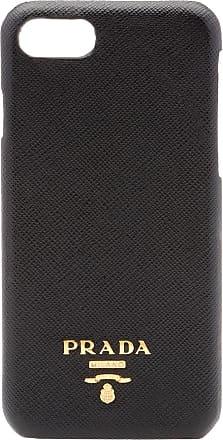 Prada Capa para iPhone 8 de couro Saffiano - Preto