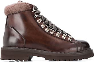Eleventy lace-up ankle boots - Brown