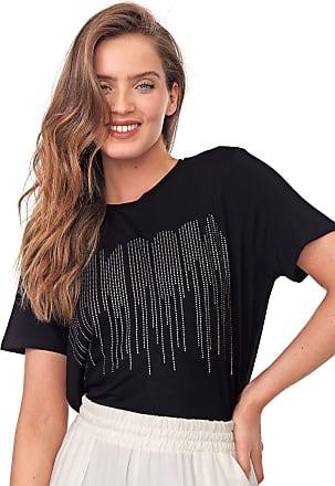 Morena Rosa Camiseta Morena Rosa Aplicações Preta