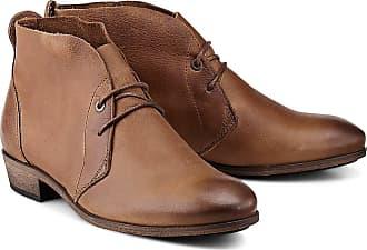 braune HUB Ankle Boots Stiefeletten cognac Gr. 39