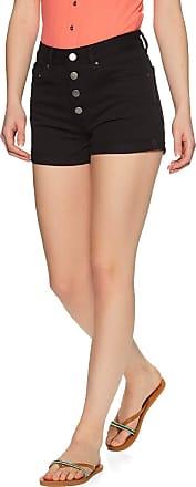 Billabong Button Front High Tide - Denim Shorts - Women - 26 - Black