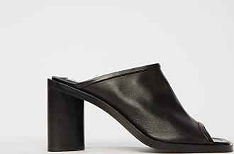 Acne Studios FN-WN-SHOE000272 Black/Black Open-toe leather mules