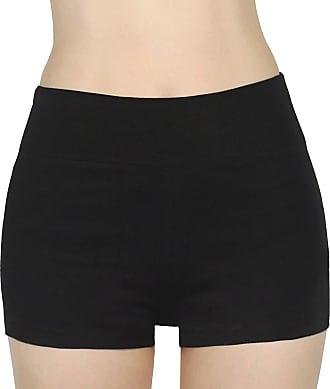 iLoveSIA Womens Knickers Yoga Gym Pants Stretch Boy Shorts Black XL