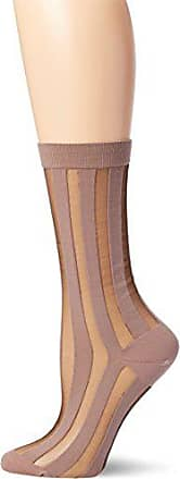 Ozone Womens Japanese Sheer Patterned Crew Sock,Mauve,One Size