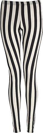 Islander Fashions Womens Plain Stretchy Leggings Ladies Full Length Printed Skinny Legging Pants Vertical Strips 2X Large UK 20-22