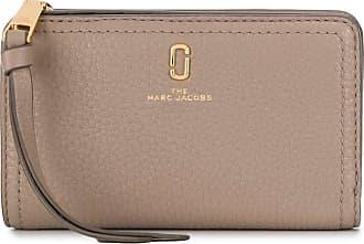 Marc Jacobs Top zip wallet in grey leather