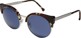 Retro Superfuture Lucia Red Havana Chrome w/ Blue Lenses 576 SUPER SUNGLASSES