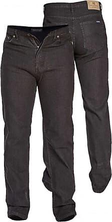 Duke London Duke Mens D555 Rockford Carlos Stretch Jeans-Black-44W X 32L