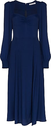 Reformation Vestido midi Wallflower franzido - Azul