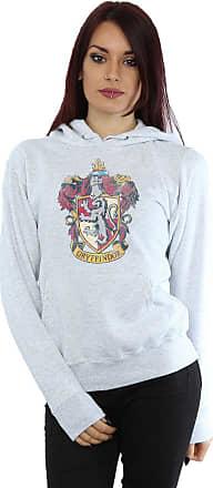 Harry Potter Womens Gryffindor Distressed Crest Hoodie Medium Heather Grey
