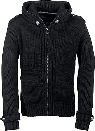 Brandit Paxton Rope Men Cardigan Black XL, 100% polyacrylic, Regular