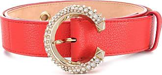 Jimmy Choo London Madeline crystal-embellished belt - ORANGE