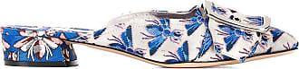 Casadei Slippers de couro bordado - Azul