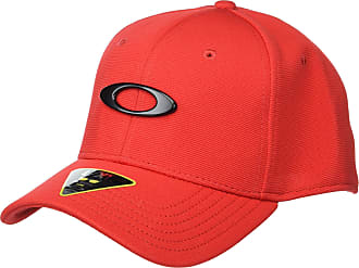 Oakley Mens TINCAN Cap Hat, Red/Black, X-Large
