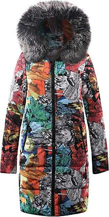 JERFER Autumn Winter Womens Winter Long Down Cotton Parka Hooded Coat Jacket Outwear Black