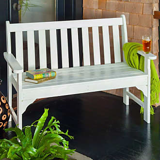 POLYWOOD Outdoor POLYWOOD Vineyard Recycled Plastic Garden Bench Slate Gray, Size: 4 ft. - GNB48GY