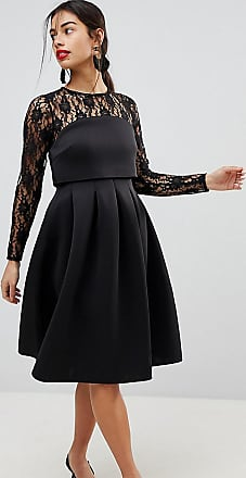 d6c00c5761014 Source · Black Dresses Shop up to 80 Stylight Asos Petite Lace Long Sleeve  Crop Top Prom Dress ...