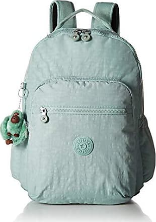 Kipling Seoul Go Laptop, Padded, Adjustable Backpack Straps, Zip Closure, Fern Green Tonal