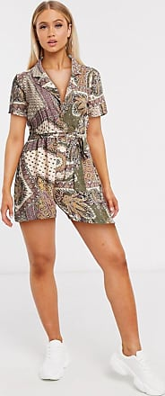 Object playsuit in paisley print-Multi
