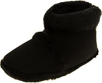 Footwear Studio Mens Coolersblack Faux Fur Lined Faux Suede Boot Slippers UK 11-12