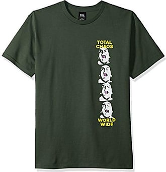 Obey Mens Total Chaos Tee, Forest Green, S