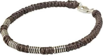 Novica Silver accent wristband bracelet, Beautiful Jungle in Taupe