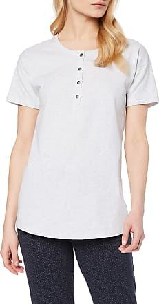Schiesser Womens Mix & Relax Shirt 1/2 Arm Pyjama Top, Grey (Grey Blend 202), 6 UK (Size: 034)