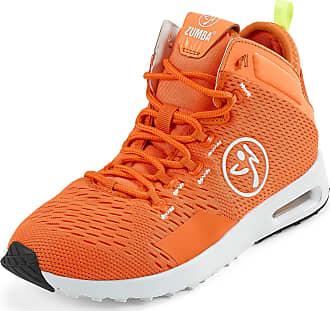 Zumba Air Classic Remix High Top Fitness Workout Dance Shoes for Women, Orange, 3.5 UK