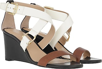 Lauren Ralph Lauren Sandals - Chadwell Casual Wedge Sandals Deep Saddle Tan/Black/Vanilla - colorful - Sandals for ladies
