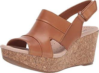 Clarks Womens Annadel Ivory Sandal, Tan Leather, 5.5 M US
