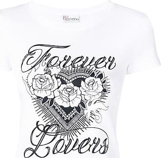 Red Valentino Camiseta Forever Lovers - Branco