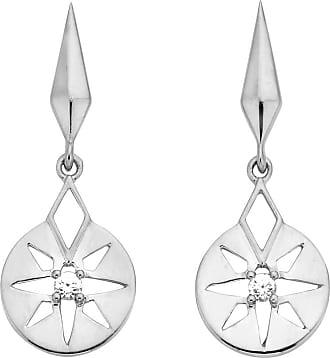 Zoe & Morgan Silber Eclipse Earrings - ONE SIZE - White/Silver
