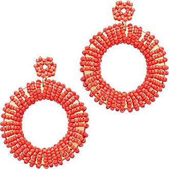 Tinna Jewelry Brinco Dourado Roda Com Metal E Resinas (Vermelho)
