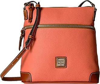 Dooney & Bourke Pebble Crossbody (Coral/Tan Trim) Cross Body Handbags
