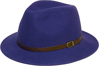 Hat To Socks Wool Fedora Felt Trilby Hat (56 cm, Blue)